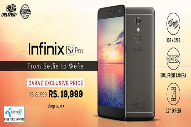 Infinix Launches S2 Pro Exclusively at Daraz