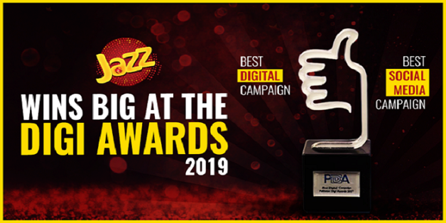 Jazz Wins Big at Pakistan Digi Awards 2019